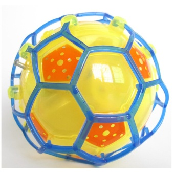Funny Crazy Dancing Music Flashing Football Electric Led Flash Light Toy For Kids(Yellow)