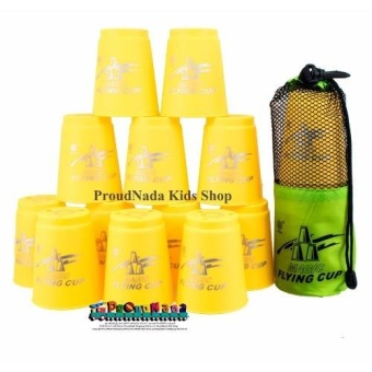 ProudNada Toys Stack Cup เกมส์เรียงแก้ว(สีเหลือง) Magic flying stacked cup 12 PCS Rapid cup NO.P13(Yellow)(Yellow)