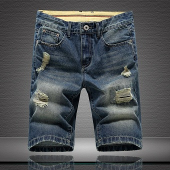 Summer new straight pants youth men's jeans fashion men's shorts