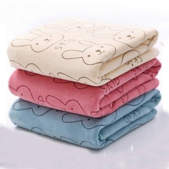 3pcs Cute Rabbit Baby Infant Newborn 20x50CM Bath Towel Washcloth Bathing Cloth Soft - Intl