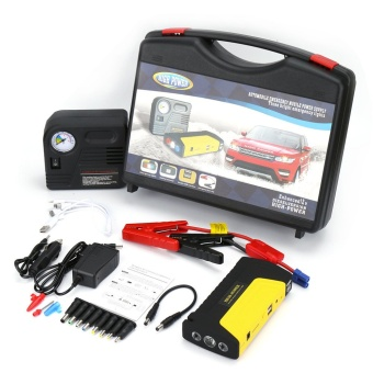 CAR Jump Starter Power Bank 50-800 mAh 12-19 V Muli-Function (Yellow/Black) ฟรี ปั๊มลม