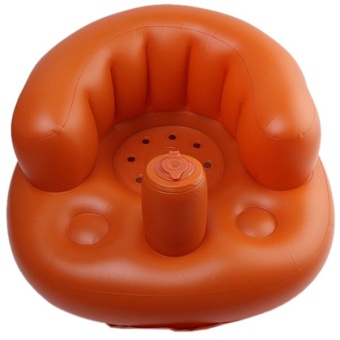 Lalang Baby Inflatable Sofa Thickened Chair Portable Security Bath Seat (Champagne)
