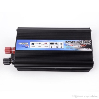 DC 12V Voltage to AC 220V Power Inverter Adapter Converter 1000w - Black