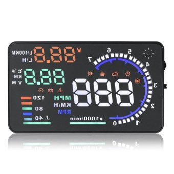 "Orbia A8 Car HUD Head Up Display OBD II OBD2 Auto Gauge 5.5"" Dash Screen Projector"""