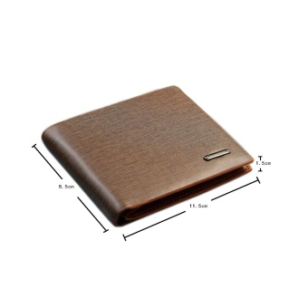 Leegoal Men's Business Purse Bifold PU Leather Scrub Wallet (Coffee)