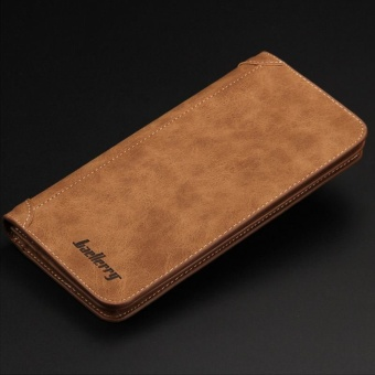 Baellerry Casual Clutch Zipper Wallet Color:Brown (Intl)