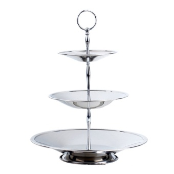 360DSC 3-Tier Stainless Steel Candy/Dessert/Cake/Fruit Plate Stand