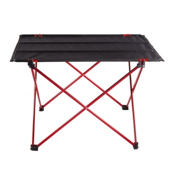 Portable Aluminum Folding Ultra-light Table for Outdoor Picnic (Red)