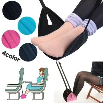 Portable Travel Footrest for Airplane Flight Train Home Adjustable Stand Foot Rest Feet Hammock Travel Accessories - intl