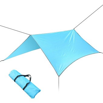 Portable Anti UV Tent Outdoor Waterproof Oxford Sun Shade Sail Light Blue