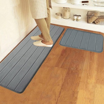 40x120cm Memory Foam Washable Bedroom Floor Pad Non-slip Bath Rug Mat Door Carpet Deep Grey