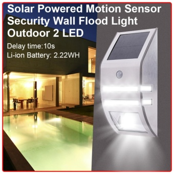 โคมไฟเซ็นเซอร์ LED Solar Motion Sensor PIR Yard Security Lamp Outdoor Waterproof Light