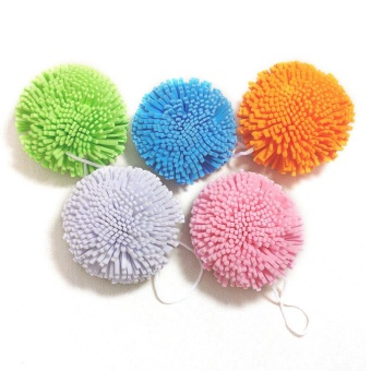 1Pcs/Lot Candy Color Natural Bath Ball Soft Comfortable Bath Sponge Easy Cleanin