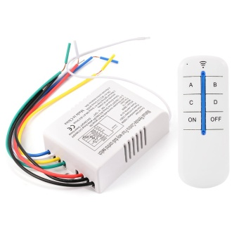 Wireless 4 Way ON/OFF Digital Remote Control Switch 220V For All Lights