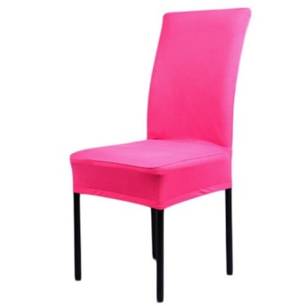 Kitchen Bar Dining Seat Chair Cover Hotel Restaurant Wedding Chair Décor Hotpink - intl