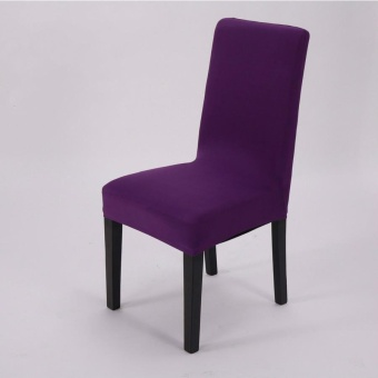 Dining Chair Cover Simple Plain Elasticity - intl