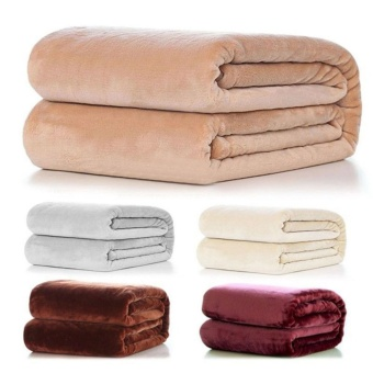 Pure Sofa Levin carpet blanket Warm Coral Fleece Throw Soft Blanket Rug Plush 50*70cm - intl