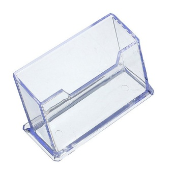 1 Tier Clear Plastic Business Card Holder Display Stands Shelf Case