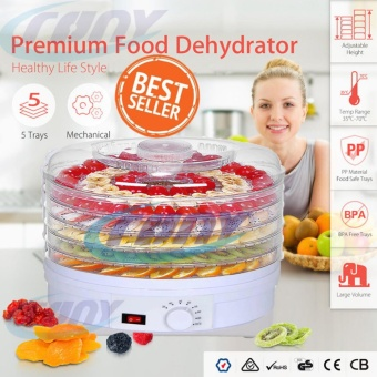 Food Dehydrator Healthy Green Food Drying Machine Fruit Vegetables Dryer With Five Drying Racks