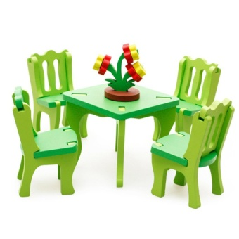 Wooden Blocks Dining Room Set for children - intl