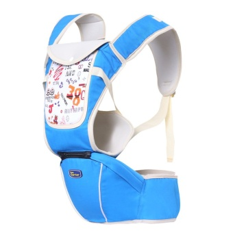 Multi-fuctional baby carriers shoulders backpack with numbers (Blue)