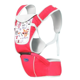 Multi-fuctional baby carriers shoulders backpack with numbers (Red)