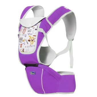 Multi-fuctional baby carriers shoulders backpack with numbers (Purple)