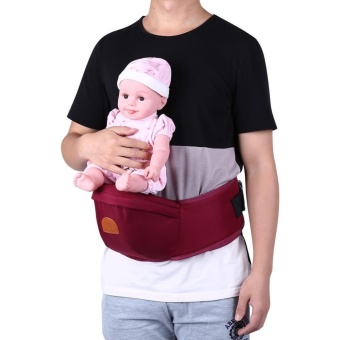 Adjustable Infant Front Carrier Walkers Waist Belt Hold Hip seat(#2 Burgundy) - intl