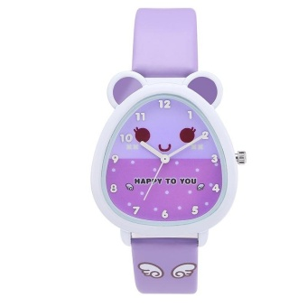 Kezzi Kids Boy Girl Watch K734 Quartz Analog Leather Wristwatches Gifts Cartoon Casual Waterproof Relogio - intl