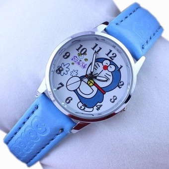 Q Version of the Fashion Cartoon Doraemon Blue Bite of the Cat Belt Children's Student Watch - intl