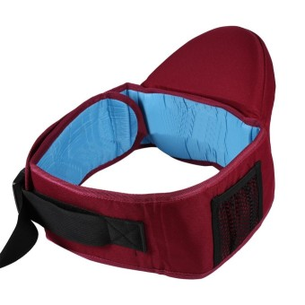 1Pc Adjustable Infant Toddler Front Carrier Walkers Baby Waist Belt Hold Hip Seat (#2 Burgundy) - intl