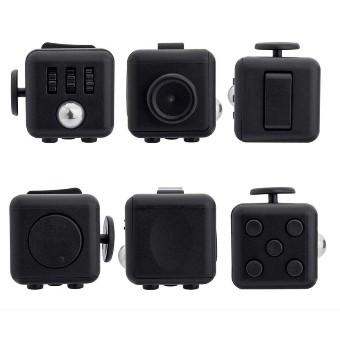 iremax Fidget Cube Relieves Stress And Anxiety For Children And Adults Anxiety Attention Toy, Black
