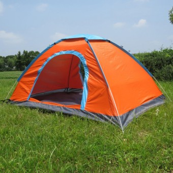 Portable outdoor automatic tent 3-4 people camping tent เต็นท์นอนแค้มปิ้ง Orange