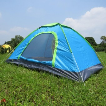 Portable outdoor automatic tent 2-3 people camping tent เต็นท์นอนแค้มปิ้ง Blue