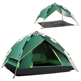 Outdoor Hydraulic AutomaticTents 3-4 Person Camping&Hiking Tents With Carry Bag(Army Green) ร้านค้าดี ราคาถูกสุด - RanCaDee.com