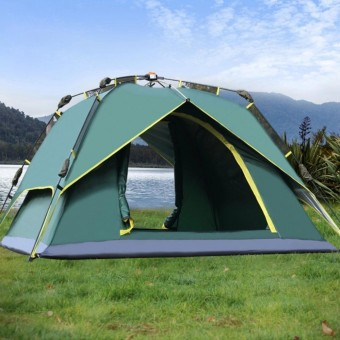 Outdoor Hydraulic AutomaticTents 3-4 Person Camping&Hiking Tents With Carry Bag (Army Green )