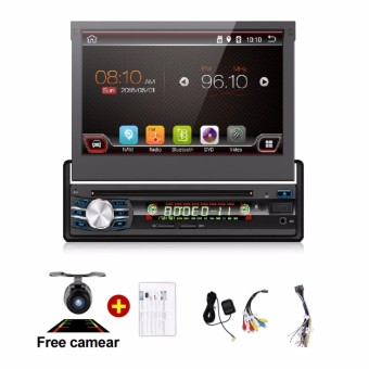 1 DIN Universal Android 6.0 Car DVD player GPS RADIO with Quad coreWIFI GPS stereo touch screen Telescopic Machine Auto Screen - intl