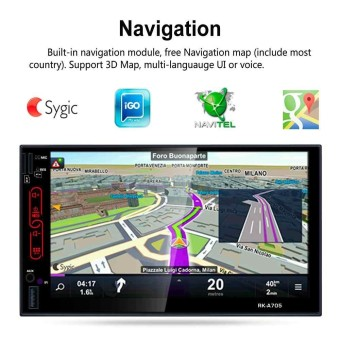 7 inch Android 6.0 Car Radio Stereo Bluetooth 2 Din Mirror Link OBD2 GPS Wifi - intl