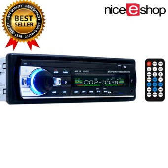 niceEshop Wireless Bluetooth Car Audio Stereo Single DIN 12V FM Receiver With Remote Control,In-Dash Car MP3 Player Support Aux Input TF Card USB - intl